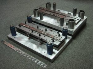 Photo of a 15 station progressive sheet metal stamping tool